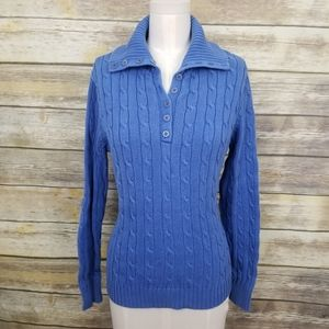 ⬇⬇ Jones New York Blue Cable Knit Sweater LARGE